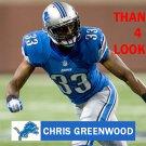 CHRIS GREENWOOD 2013 DETROIT LIONS FOOTBALL CARD