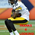 DeMARCUS VAN DYKE 2012 PITTSBURGH STEELERS FOOTBALL CARD