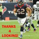 JEFF TARPINIAN 2013 HOUSTON TEXANS FOOTBALL CARD