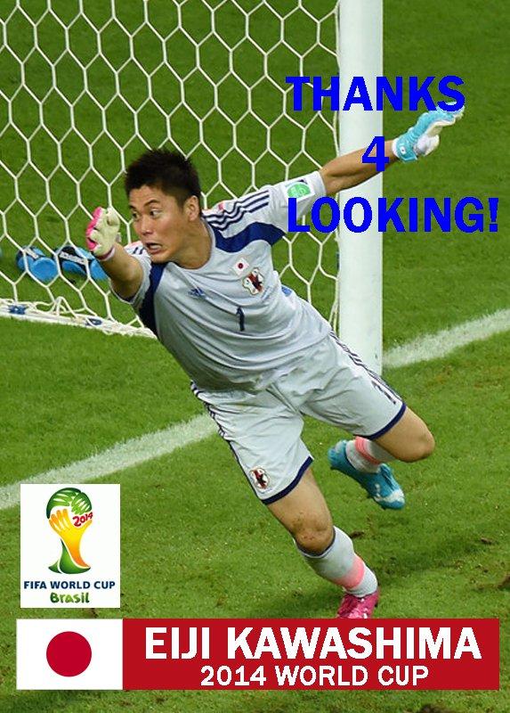 EIJI KAWASHIMA JAPAN 2014 FIFA WORLD CUP CARD