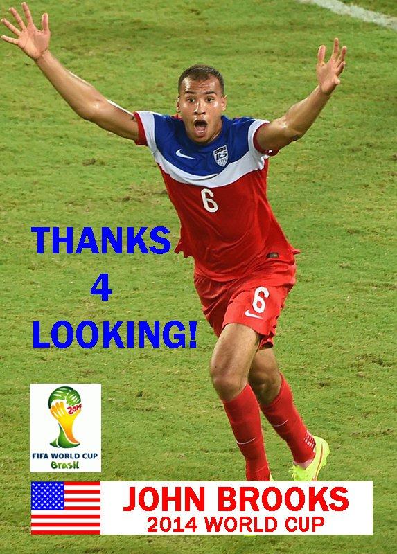 JOHN BROOKS USA 2014 FIFA WORLD CUP CARD