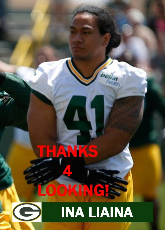 INA LIAINA 2014 GREEN BAY PACKERS FOOTBALL CARD
