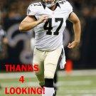 JUSTIN DRESCHER 2013 NEW ORLEANS SAINTS FOOTBALL CARD