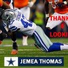 JEMEA THOMAS 2014 DALLAS COWBOYS FOOTBALL CARD