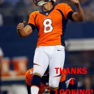 BRANDON McMANUS 2014 DENVER BRONCOS FOOTBALL CARD