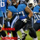 TAYLOR LEWAN 2014 TENNESSEE TITANS FOOTBALL CARD