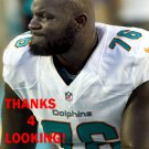 ANTHONY JOHNSON 2014 MIAMI DOLPHINS FOOTBALL CARD