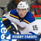 ROBBY FABBRI 2014-15 ST. LOUIS BLUES HOCKEY CARD