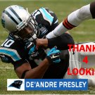 DE'ANDRE PRESLEY 2014 CAROLINA PANTHERS FOOTBALL CARD