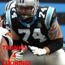 MIKE REMMERS 2014 CAROLINA PANTHERS FOOTBALL CARD