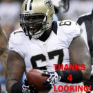 BRANDON DEADERICK 2014 NEW ORLEANS SAINTS FOOTBALL CARD