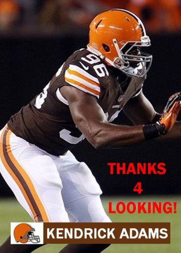 KENDRICK ADAMS 2013 CLEVELAND BROWNS FOOTBALL CARD