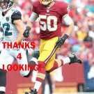 GABE MILLER 2014 WASHINGTON REDSKINS FOOTBALL CARD