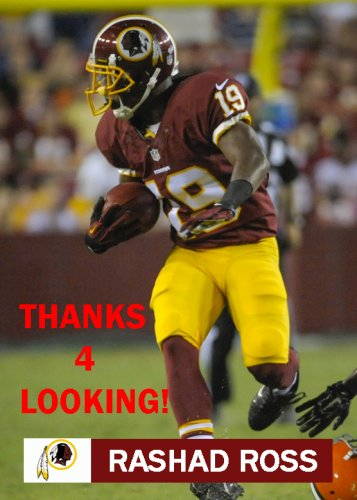 RASHAD ROSS 2014 WASHINGTON REDSKINS FOOTBALL CARD