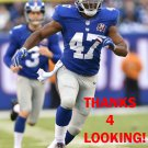 CHRIS OGBONNAYA 2014 NEW YORK GIANTS FOOTBALL CARD