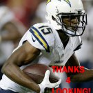 DONTRELLE INMAN 2014 SAN DIEGO CHARGERS FOOTBALL CARD