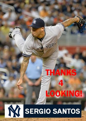 SERGIO SANTOS 2015 NEW YORK YANKEES BASEBALL CARD