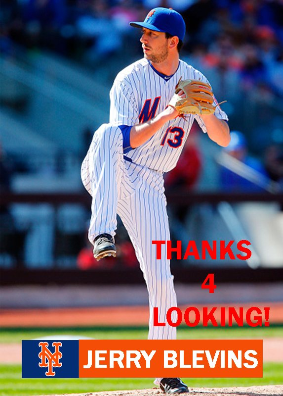 JERRY BLEVINS 2015 NEW YORK METS BASEBALL CARD