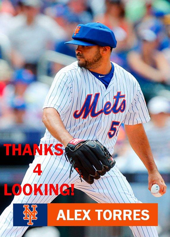 ALEX TORRES 2015 NEW YORK METS BASEBALL CARD