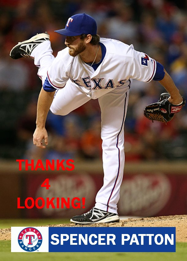SPENCER PATTON 2015 TEXAS RANGERS BASEBALL CARD