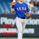 TOMMY FIELD 2015 TEXAS RANGERS BASEBALL CARD