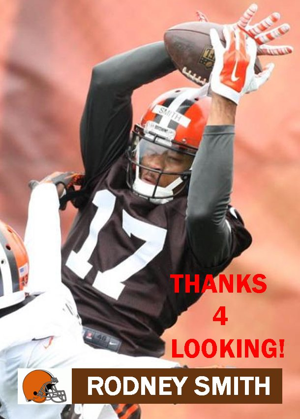 RODNEY SMITH 2015 CLEVELAND BROWNS FOOTBALL CARD
