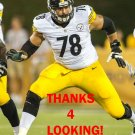 ALEJANDRO VILLANUEVA 2015 PITTSBURGH STEELERS FOOTBALL CARD