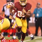 EVAN SPENCER 2015 WASHINGTON REDSKINS FOOTBALL CARD