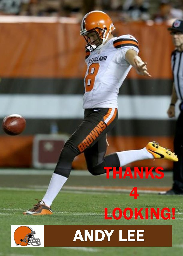 ANDY LEE 2015 CLEVELAND BROWNS FOOTBALL CARD