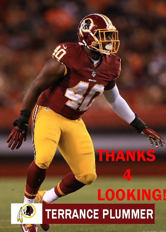 Washington Redskins Terrance Plummer Jerseys cheap