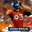 CHUKA NDULUE 2015 DENVER BRONCOS FOOTBALL CARD