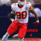 JAMES O'SHAUGHNESSY 2015 KANSAS CITY CHIEFS FOOTBALL CARD