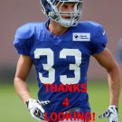 JUSTIN HALLEY 2015 NEW YORK GIANTS FOOTBALL CARD