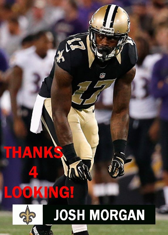 JOSH MORGAN 2015 NEW ORLEANS SAINTS FOOTBALL CARD
