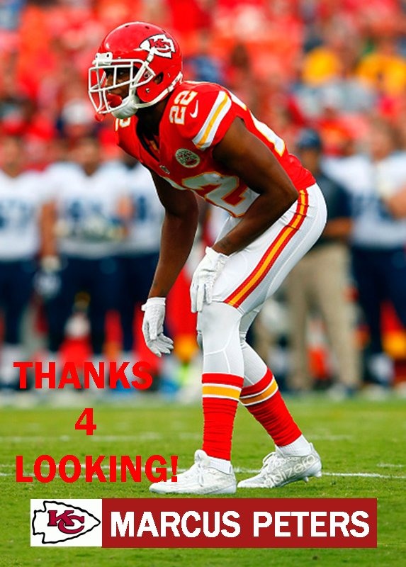 MARCUS PETERS 2015 KANSAS CITY CHIEFS FOOTBALL CARD