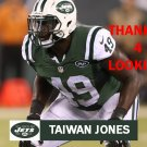 TAIWAN JONES 2015 NEW YORK JETS FOOTBALL CARD