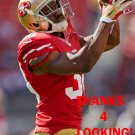 JERMAINE WHITEHEAD 2015 SAN FRANCISCO 49ERS FOOTBALL CARD