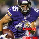 BRIAN PETERS 2015 MINNESOTA VIKINGS FOOTBALL CARD