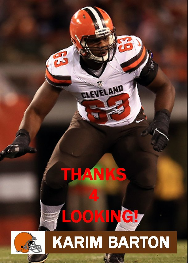 KARIM BARTON 2015 CLEVELAND BROWNS FOOTBALL CARD