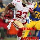 REGGIE BUSH 2015 SAN FRANCISCO 49ERS FOOTBALL CARD