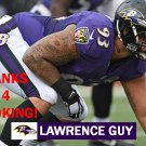 LAWRENCE GUY 2015 BALTIMORE RAVENS FOOTBALL CARD