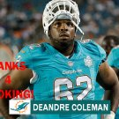 DEANDRE COLEMAN 2015 MIAMI DOLPHINS FOOTBALL CARD