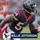 WILLIE JEFFERSON 2015 HOUSTON TEXANS FOOTBALL CARD
