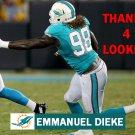 EMMANUEL DIEKE 2015 MIAMI DOLPHINS FOOTBALL CARD