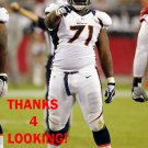 C.J. DAVIS 2012 DENVER BRONCOS FOOTBALL CARD