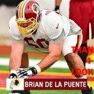 BRIAN DE LA PUENTE 2015 WASHINGTON REDSKINS FOOTBALL CARD