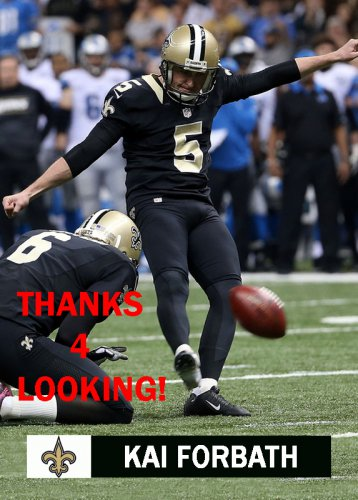 KAI FORBATH 2015 NEW ORLEANS SAINTS FOOTBALL CARD