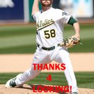 ZACH NEAL 2016 OAKLAND ATHLETICS  BASEBALL CARD