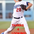 BUD NORRIS 2016 LOS ANGELES DODGERS  BASEBALL CARD