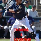 WILL MIDDLEBROOKS 2016 MILWAUKEE BREWERS BASEBALL CARD